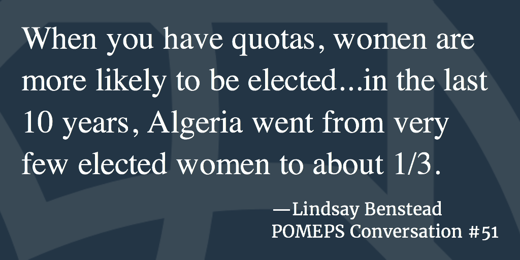 POMEPS Conversation 51: Lindsay Benstead