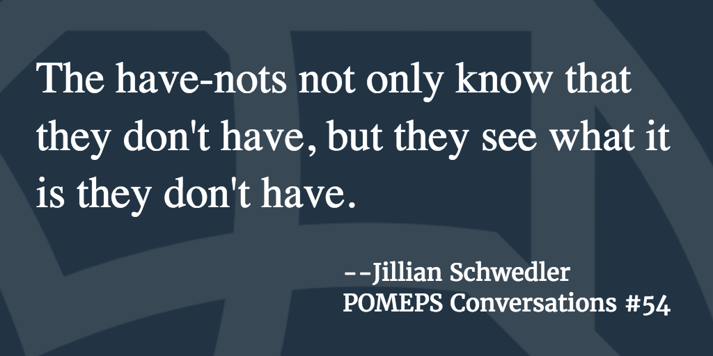 POMEPS Conversation 54: Jillian Schwedler