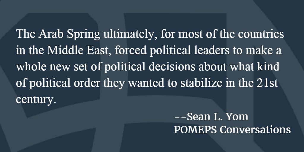 POMEPS Conversation 56: Sean L. Yom