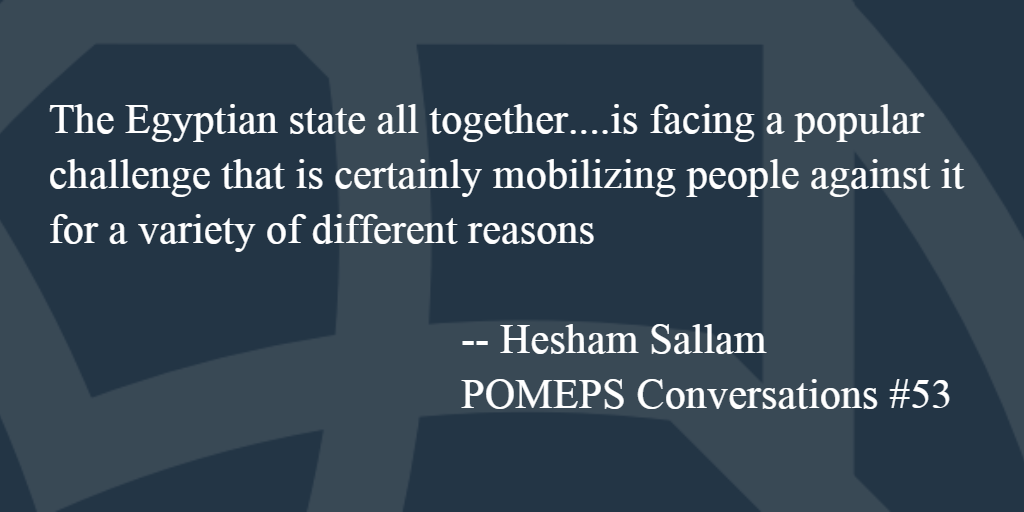 POMEPS Conversation 53: Hesham Sallam