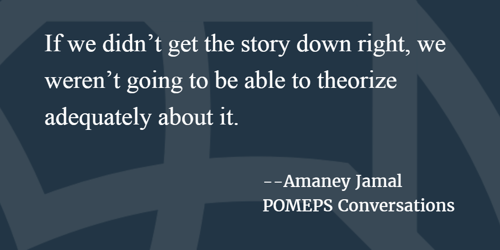 POMEPS Conversation 60: Amaney Jamal