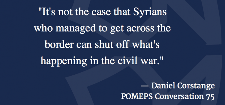 What We Can Learn from Syrian Refugees: A Conversation with Daniel Corstange
