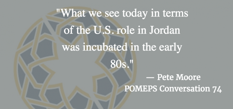 Political Economy & Refugees in Jordan: POMEPS Conversation 74 with Pete Moore