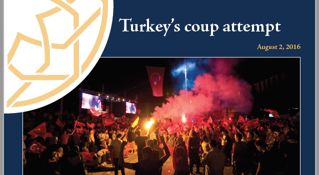 Briefing #30: Turkey's coup attempt