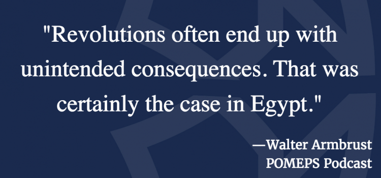 Egypt and pop culture post-revolution: A conversation with Walter Armbrust