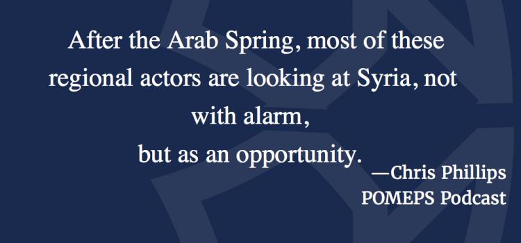 Syria's International Politics: A Conversation Chris Phillips