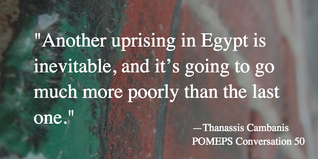 POMEPS Conversation 50: Michael Wahid Hanna & Thanassis Cambanis