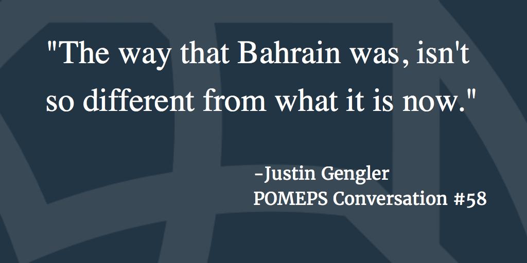 POMEPS Conversation 58: Justin Gengler