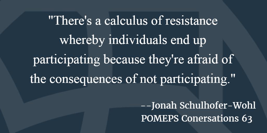 POMEPS Conversation 63: Jonah Schulhofer-Wohl