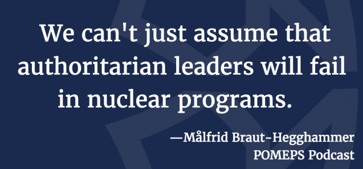 Why Iraq and Libya Failed to Build Nuclear Weapons: A Conversation with Målfrid Braut-Hegghammer