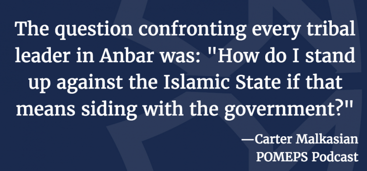 Conflict in Iraq: A Conversation with Carter Malkasian