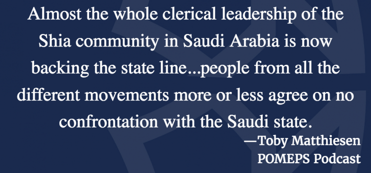 Sectarianism in the Gulf: A Conversation with Toby Matthiesen